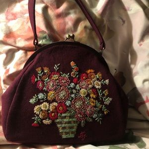 New Lulu Guinness should bag with embroidery.